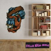 Monster Wall Decal - Wall Fabric - Repositionable Decal - Vinyl Car Sticker - usc003