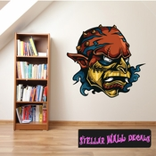 Monster Wall Decal - Wall Fabric - Repositionable Decal - Vinyl Car Sticker - usc004