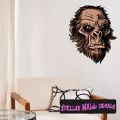 Mythical Creature Big Foot  Wall Decal - Wall Fabric - Repositionable Decal - Vinyl Car Sticker - usc001
