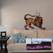 Mythical Creature Chimera Wall Decal - Wall Fabric - Repositionable Decal - Vinyl Car Sticker - usc057