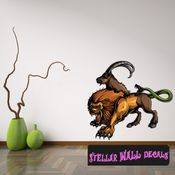 Mythical Creature Chimera Wall Decal - Wall Fabric - Repositionable Decal - Vinyl Car Sticker - usc070