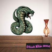 Mythical Creature Cobra Basilisk Wall Decal - Wall Fabric - Repositionable Decal - Vinyl Car Sticker - usc059