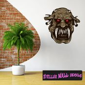 Mythical Creature Demon Wall Decal - Wall Fabric - Repositionable Decal - Vinyl Car Sticker - usc027