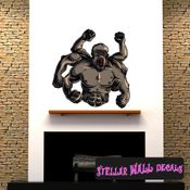 Mythical Creature Gegenees Wall Decal - Wall Fabric - Repositionable Decal - Vinyl Car Sticker - usc061