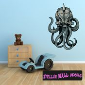 Mythical Creature Kraken Wall Decal - Wall Fabric - Repositionable Decal - Vinyl Car Sticker - usc011