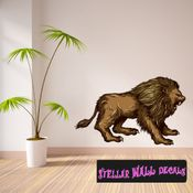Mythical Creature Lion Wall Decal - Wall Fabric - Repositionable Decal - Vinyl Car Sticker - usc031