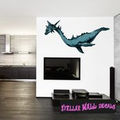 Mythical Creature Loch Nest Monster Wall Decal - Wall Fabric - Repositionable Decal - Vinyl Car Sticker - usc032