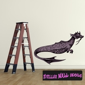 Mythical Creature Loch Nest Monster Wall Decal - Wall Fabric - Repositionable Decal - Vinyl Car Sticker - usc043