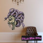 Mythical Creature Medusa Wall Decal - Wall Fabric - Repositionable Decal - Vinyl Car Sticker - usc008