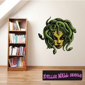 Mythical Creature Medusa Wall Decal - Wall Fabric - Repositionable Decal - Vinyl Car Sticker - usc071