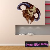 Mythical Creature Minotaur Wall Decal - Wall Fabric - Repositionable Decal - Vinyl Car Sticker - usc002