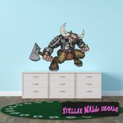 Mythical Creature Minotaur Wall Decal - Wall Fabric - Repositionable Decal - Vinyl Car Sticker - usc055