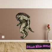 Mythical Creature Ork Goblin Wall Decal - Wall Fabric - Repositionable Decal - Vinyl Car Sticker - usc058