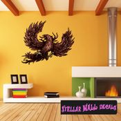 Mythical Creature Phoenix Wall Decal - Wall Fabric - Repositionable Decal - Vinyl Car Sticker - usc036