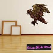 Mythical Creature Phoenix Wall Decal - Wall Fabric - Repositionable Decal - Vinyl Car Sticker - usc038