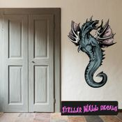 Mythical Creature Serpent Basilisk Wall Decal - Wall Fabric - Repositionable Decal - Vinyl Car Sticker - usc019