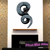 Mythical Creature Serpent Snake Wall Decal - Wall Fabric - Repositionable Decal - Vinyl Car Sticker - usc023