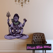 Mythical Creature Shiva Wall Decal - Wall Fabric - Repositionable Decal - Vinyl Car Sticker - usc040