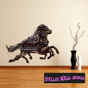 Mythical Creature Sleipnir Wall Decal - Wall Fabric - Repositionable Decal - Vinyl Car Sticker - usc039