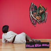 Mythical Creature Succubus Wall Decal - Wall Fabric - Repositionable Decal - Vinyl Car Sticker - usc004
