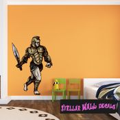 Mythical Creature Trojan Spartan Wall Decal - Wall Fabric - Repositionable Decal - Vinyl Car Sticker - usc041