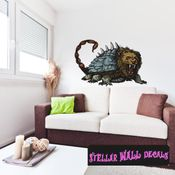 Mythical Creature Wall Decal - Wall Fabric - Repositionable Decal - Vinyl Car Sticker - usc021