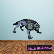 Mythical Creature Werewolf Wall Decal - Wall Fabric - Repositionable Decal - Vinyl Car Sticker - usc003