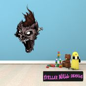 Mythical Creature Werewolf Wall Decal - Wall Fabric - Repositionable Decal - Vinyl Car Sticker - usc014
