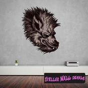 Mythical Creature Werewolf Wall Decal - Wall Fabric - Repositionable Decal - Vinyl Car Sticker - usc016