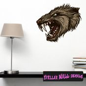 Mythical Creature Werewolf Wall Decal - Wall Fabric - Repositionable Decal - Vinyl Car Sticker - usc030