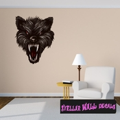 Mythical Creature Werewolf Wall Decal - Wall Fabric - Repositionable Decal - Vinyl Car Sticker - usc046