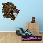 Mythical Creature Werewolf Wall Decal - Wall Fabric - Repositionable Decal - Vinyl Car Sticker - usc048