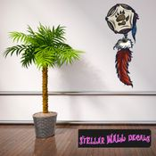 Native American Dream catcher Wall Decal - Wall Fabric - Repositionable Decal - Vinyl Car Sticker - usc003