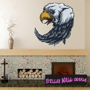 Native American Eagle Wall Decal - Wall Fabric - Repositionable Decal - Vinyl Car Sticker - usc002