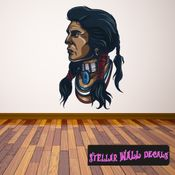 Native American Wall Decal - Wall Fabric - Repositionable Decal - Vinyl Car Sticker - usc004