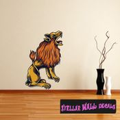 Occult Lion Wall Decal - Wall Fabric - Repositionable Decal - Vinyl Car Sticker - usc010