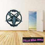Occult Pentagram Wall Decal - Wall Fabric - Repositionable Decal - Vinyl Car Sticker - usc002