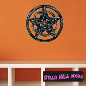Occult Pentagram Wall Decal - Wall Fabric - Repositionable Decal - Vinyl Car Sticker - usc003