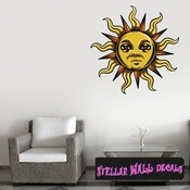 Occult Sun Wall Decal - Wall Fabric - Repositionable Decal - Vinyl Car Sticker - usc004
