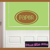 Paper School Craft Supplies Labels Vinyl Wall Decal Sticker Mural Quotes Words LB005paper SWD