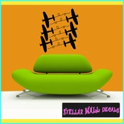 Plane Toy Airplane with Trails Kit Transportation Vinyl Wall Decal Sticker Mural Quotes Words PK019 SWD