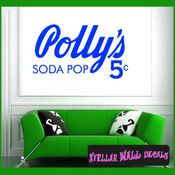 Pollys Soda Pop 5 ANTIQUES Vinyl Wall Decal - Wall Sticker - Car Sticker AntiquesMC039 SWD
