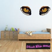 Predator Eyes Wall Decal - Wall Fabric - Repositionable Decal - Vinyl Car Sticker - usc003