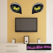 Predator Eyes Wall Decal - Wall Fabric - Repositionable Decal - Vinyl Car Sticker - usc005