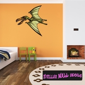 Pterodactyl Dinosaur Wall Decal - Wall Fabric - Repositionable Decal - Vinyl Car Sticker - usc005
