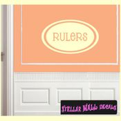 Rulers School Craft Supplies Labels Vinyl Wall Decal Sticker Mural Quotes Words LB005rulers SWD