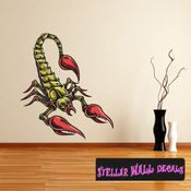 Scorpion Wall Decal - Wall Fabric - Repositionable Decal - Vinyl Car Sticker - usc001