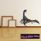 Scorpion Wall Decal - Wall Fabric - Repositionable Decal - Vinyl Car Sticker - usc002