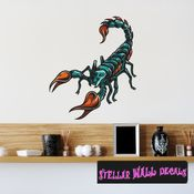 Scorpion Wall Decal - Wall Fabric - Repositionable Decal - Vinyl Car Sticker - usc003