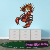 Scorpion Wall Decal - Wall Fabric - Repositionable Decal - Vinyl Car Sticker - usc005